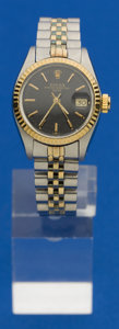 Timepieces:Wristwatch, Rolex Lady's Two Tone Oyster Perpetual Date, circa 1977. ...