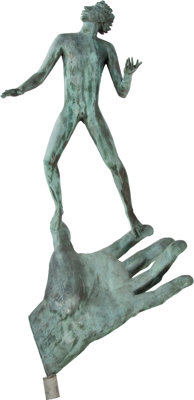 CARL MILLES (Swedish, 1875-1955) Hand of God Bronze with patina 58 x 23 x 14 inches (147.3 x 58.4