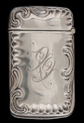 Silver Smalls:Match Safes, AN AMERICAN SILVER MATCH SAFE . Maker unknown, American, circa1899. Marks: STERLING, 125. 2-1/2 inches high (6.4 cm). ....