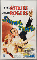 "Movie Posters:Musical, Swing Time (RKO, R-1945). Canadian One Sheet (26"" X 42""). Musical.. ..."