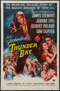 "Movie Posters:Adventure, Thunder Bay (Universal International, 1953). One Sheet (27"" X 41"").Adventure.. ..."