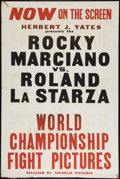 "Movie Posters:Sports, Rocky Marciano Fight Poster (Republic, 1953). One Sheet (28"" X 42""). Sports.. ..."