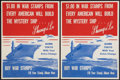 """Movie Posters:War, World War II """"$1.00 In War Stamps From Every American Will Buildthe Mystery Ship...Shangri-La"""" (U.S. Government Printing Offi...(Total: 2 Items)"""