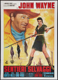 "Movie Posters:Western, The Searchers (Warner Brothers, R-1971). Italian 2 - Foglio (39"" X 55""). Western.. ..."