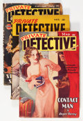 Pulps:Detective, Private Detective Stories Group (Trojan Publishing, 1938-46)....(Total: 3 Items)