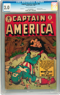 Captain America Comics #69 (Timely, 1948) CGC GD 2.0 Cream to off-white pages