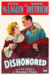 "Dishonored (Paramount, 1931). One Sheet (27"" X 41"") Style A"