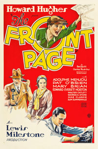 "The Front Page (United Artists, 1931). One Sheet (27"" X 41"")"