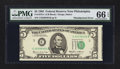 Error Notes:Miscellaneous Errors, Fr. 1978-C $5 1985 Federal Reserve Note. PMG Gem Uncirculated 66 EPQ.. ...