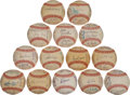 Autographs:Baseballs, 1978 American League Team Signed Baseballs Lot of 14....