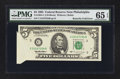 Error Notes:Foldovers, Fr. 1984-C $5 1995 Federal Reserve Note. PMG Gem Uncirculated 65EPQ.. ...