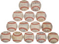 Autographs:Baseballs, 1983 American League Team Signed Baseballs Lot of 14....