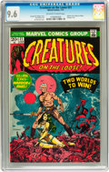 Bronze Age (1970-1979):Horror, Creatures on the Loose #21 (Marvel, 1973) CGC NM+ 9.6 Off-white towhite pages....