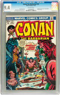 Bronze Age (1970-1979):Adventure, Conan the Barbarian #33 (Marvel, 1973) CGC NM 9.4 Off-white pages....