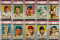 Baseball Cards:Lots, 1952 Topps Baseball PSA NM 7 Graded Collection (25)....