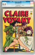 Golden Age (1938-1955):Crime, Claire Voyant #4 (Pentagon, 1947) CGC VF 8.0 Cream to off-white pages....