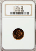 Proof Indian Cents, 1904 1C PR66 Red NGC....