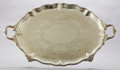 Silver Holloware, British:Holloware, A STEPHEN SMITH VICTORIAN SILVER FOOTED TRAY . Stephen Smith,London, England, 1872-1873. Marks: (lion passant), (leopard's ...