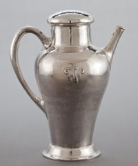 A CLEMENS FRIEDELL SILVER MARTINI SHAKER Clemens Friedell, Pasadena, California, circa 1927-1961 Marks: CLE