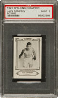 Boxing Cards:General, 1926 Sports Co. of America Jack Dempsey PSA Mint 9. ...