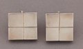 Estate Jewelry:Earrings, A PAIR OF WILLIAM SPRATLING SILVER EARRINGS . William Spratling,Taxco, Mexico, circa 1950. Marks: WS, SPRATLING, SILVER, ...(Total: 2 Items)