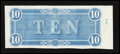 Confederate Notes:1864 Issues, T68 $10 1864 - Back Only Printing.. ...