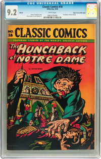 Classic Comics #18 The Hunchback of Notre Dame HRN 28 Mile High pedigree (Gilberton, 1946) CGC NM- 9.2 White pages