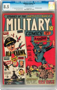 Military Comics #2 (Quality, 1941) CGC VF+ 8.5 Cream to off-white pages