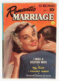 Golden Age (1938-1955):Romance, Romantic Marriage #1 (Ziff-Davis, 1950) Condition: VG/FN....