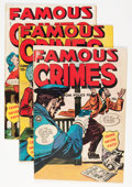 Golden Age (1938-1955):Crime, Famous Crimes #7, 10, and 15 Group (Fox Features Syndicate, 1949).... (Total: 3 Comic Books)