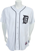 Baseball Collectibles:Uniforms, 2011 Justin Verlander ALDS Game Three Worn Detroit Tigers Jersey....