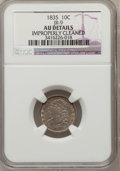 Bust Dimes: , 1835 10C -- Improperly Cleaned -- NGC Details. AU. JR-9. NGCCensus: (16/360). PCGS Population (47/272). Mintage: 1,410,00...