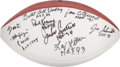 Football Collectibles:Balls, Football Hall of Famers Multi Signed Football With 20 Signatures....