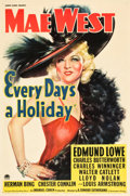 "Movie Posters:Comedy, Every Day's a Holiday (Paramount, 1937). One Sheet (27"" X 41"").. ..."