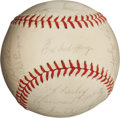 Autographs:Baseballs, 1962 Tigers Team Signed Baseball. ...