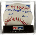 Autographs:Baseballs, Harold Douglas Harvey HOF 2010 Inscription Single Signed BaseballPSA 9....