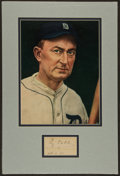 Baseball Collectibles:Others, 1930 Ty Cobb Signed Cut Signature Display....
