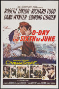 """Movie Posters:War, D-Day The Sixth of June (20th Century Fox, 1956). One Sheet (27"""" X41""""). War.. ..."""