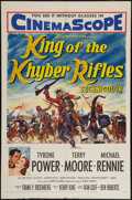 "Movie Posters:Adventure, King of the Khyber Rifles (20th Century Fox, 1954). One Sheet (27""X 41""). Adventure.. ..."