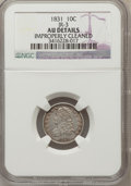 Bust Dimes: , 1831 10C -- Improperly Cleaned -- NGC Details. AU. JR-3. NGCCensus: (7/241). PCGS Population (27/206). Mintage: 771,350. ...