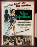 "Movie Posters:Exploitation, A Virgin in Hollywood (Sonney Amusement Enterprises, 1953). Poster(30"" X 40""). Pop Right Off the Screen Style. Exploitation..."