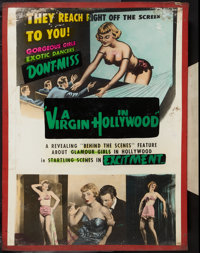 "A Virgin in Hollywood (Sonney Amusement Enterprises, 1953). Poster (30"" X 40""). Reach Right Off the Screen Sty..."
