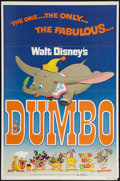 """Movie Posters:Animation, Dumbo (Buena Vista, R-1972). One Sheet (27"""" X 41""""). Animation.. ..."""
