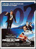 """Movie Posters:James Bond, Licence to Kill (United Artists, 1989). French Petite (15.5"""" X21""""). James Bond.. ..."""