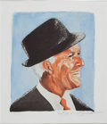 Movie/TV Memorabilia:Memorabilia, A Tony Bennett Signed Limited Edition Print of Frank Sinatra, Circa1990s....