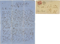 Key West Union Blockade Letter written aboard the U. S. Steamer Huntsville
