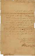 Autographs:U.S. Presidents, [Revolutionary War]. George Washington Letter Signed....