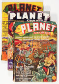 Pulps:Science Fiction, Planet Stories Group (Fiction House, 1939-48) Condition: AverageVG.... (Total: 5 Items)