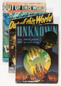 Pulps:Science Fiction, Out of This World Adventures Group (Avon, 1939-50) Condition:Average GD/VG.... (Total: 4 Items)