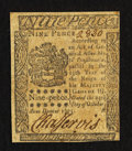 Colonial Notes:Pennsylvania, Pennsylvania October 25, 1775 9d Very Fine.. ...